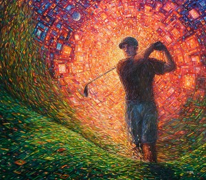 Painting: Golfer