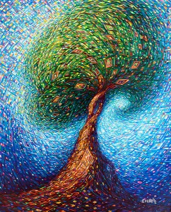 Painting: In the Tree